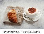 cup of cappuccino coffee with...   Shutterstock . vector #1191803341