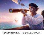 portrait of discoverer... | Shutterstock . vector #1191804934