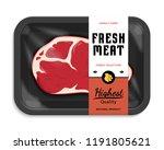 vector meat packaging... | Shutterstock .eps vector #1191805621