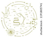 scientific  education elements. ... | Shutterstock .eps vector #1191805741