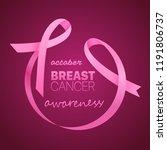 breast cancer awareness banner. ...   Shutterstock .eps vector #1191806737