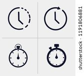 time icon  clock icon ... | Shutterstock .eps vector #1191806881