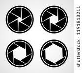 set of aperture icons. vector... | Shutterstock .eps vector #1191813211