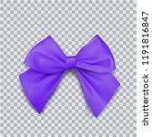 violet bow for packing gifts.... | Shutterstock .eps vector #1191816847