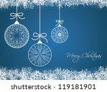 christmas background   Shutterstock .eps vector #119181901