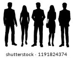 vector silhouettes of men and... | Shutterstock .eps vector #1191824374
