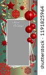 vertical  christmas  greeting... | Shutterstock .eps vector #1191825964