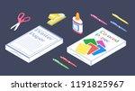 set of stationery for school.... | Shutterstock .eps vector #1191825967