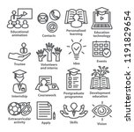 business management line icons. ... | Shutterstock .eps vector #1191829654