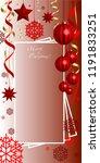 vertical  christmas  greeting... | Shutterstock .eps vector #1191833251