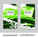 set of vector business card... | Shutterstock .eps vector #1191833317