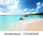 Anse Lazio Beach On Praslin...