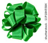 big round bow in green color... | Shutterstock . vector #1191845584