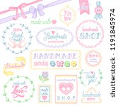 a set of labels and objects for ... | Shutterstock .eps vector #1191845974