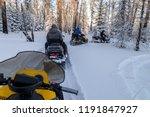 Walk On Snowmobiles In The...