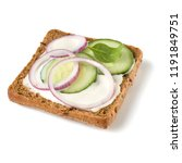 open faced sandwich crostini... | Shutterstock . vector #1191849751