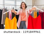 attractive stylish smiling... | Shutterstock . vector #1191849961