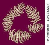 fern frond herbs  tropical... | Shutterstock .eps vector #1191852214