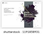 web page design templates ... | Shutterstock .eps vector #1191858931