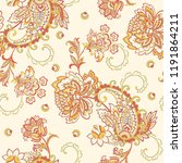 seamless pattern with paisley... | Shutterstock .eps vector #1191864211