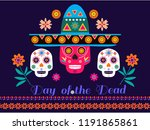 dia de los muertos  day of the... | Shutterstock .eps vector #1191865861