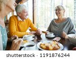 cheerful excited senior friends ... | Shutterstock . vector #1191876244