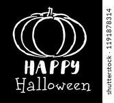 halloween. vector pumpkin.... | Shutterstock .eps vector #1191878314