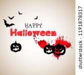 halloween. vector pumpkin.... | Shutterstock .eps vector #1191878317