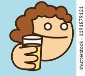 pictogram with thirsty curly... | Shutterstock .eps vector #1191879121
