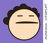 emoji with arrogant fat man... | Shutterstock .eps vector #1191891397