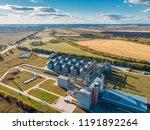large modern silos granary... | Shutterstock . vector #1191892264