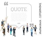 testimonials square quote shape ... | Shutterstock .eps vector #1191894541