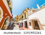 capri  italy . may 25  2018 ... | Shutterstock . vector #1191901261