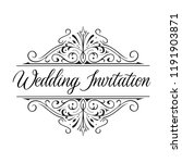 wedding invitation classic... | Shutterstock .eps vector #1191903871