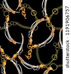 gold chain and yellow baroque ... | Shutterstock . vector #1191906757