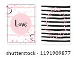 bridal shower card with dots... | Shutterstock .eps vector #1191909877