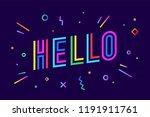 hello. banner  speech bubble ... | Shutterstock .eps vector #1191911761