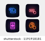 neon glow lights. set of buy... | Shutterstock .eps vector #1191918181