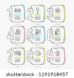 infographic template with... | Shutterstock .eps vector #1191918457