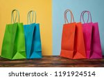multi colored shopping bags | Shutterstock . vector #1191924514