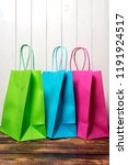 multi colored shopping bags | Shutterstock . vector #1191924517