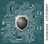 protected guard shield circuit...   Shutterstock .eps vector #1191928447