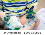 closeup of toddler hands... | Shutterstock . vector #1191931591