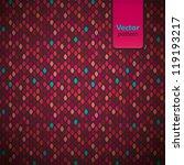 colorful pattern illustration.... | Shutterstock .eps vector #119193217