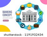 business concept. bank building ... | Shutterstock .eps vector #1191932434