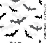 seamless pattern with bats for... | Shutterstock .eps vector #1191932641