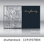postcard template  envelope for ... | Shutterstock .eps vector #1191937804