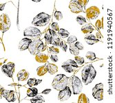 watercolor seamless pattern... | Shutterstock . vector #1191940567