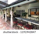 outdoor living poolside | Shutterstock . vector #1191942847
