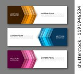 vector graphic design banner... | Shutterstock .eps vector #1191946534